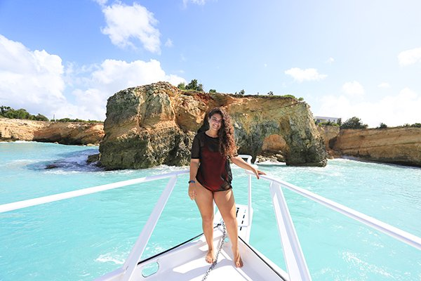 Louise at West End,  Anguilla's Rum & Reel Charters