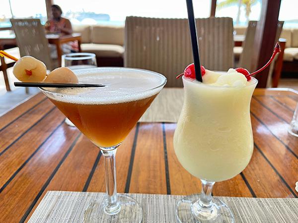 Lychee Martini & Pina Colada at Holland House