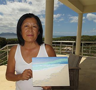 anguilla ocean print art