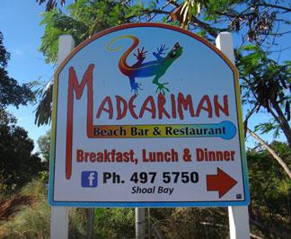 madeariman restaurant sign