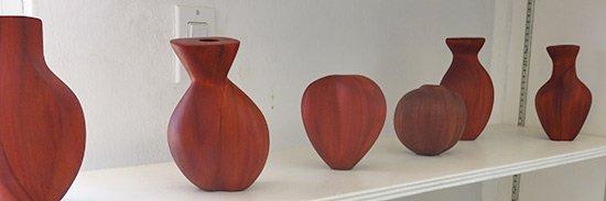 mahogany vases by devonish