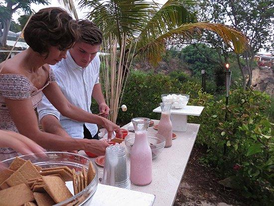 making smores at malliouhana