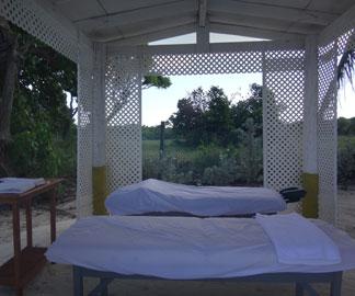private massage cabana on the beach