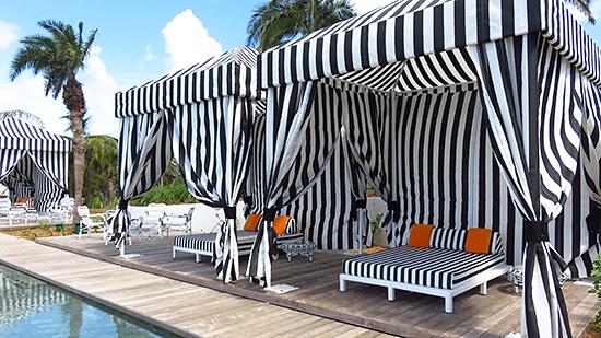 pool cabanas at malliouhana