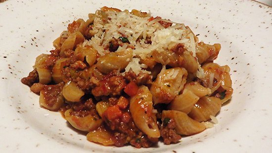 the bolognese pasta