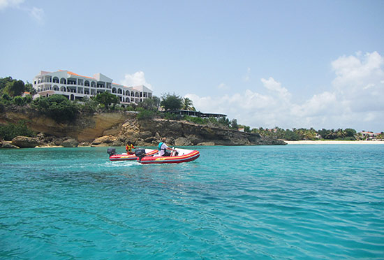 malliouhana anguilla from the sea