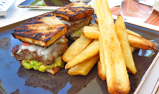 strip loin steak sandwich at malliouhana
