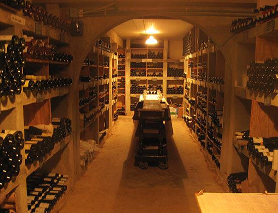 wine cellar at malliouhana