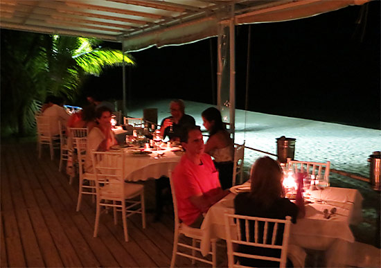 mango's seaside grill on Barnes Bay Anguilla has a classic Caribbean charm and an unbeatable location