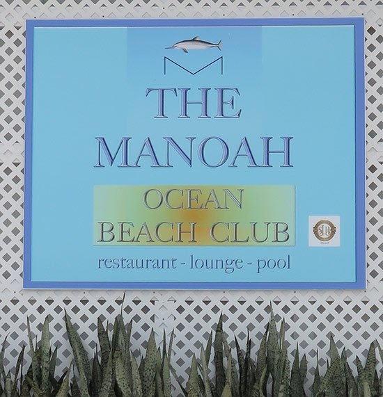 manoah ocean beach club sign