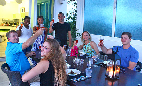 marc forgione with the simpson family in Anguilla