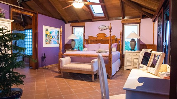 master bedroom at wesley house