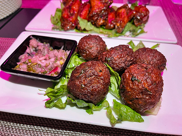 Impossible Meatballs at Movida Rotisserie & Grill