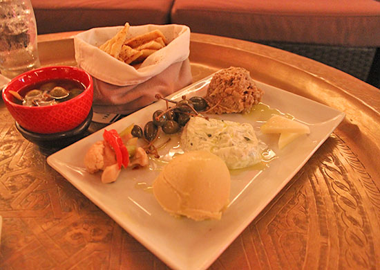 mediterranean plate for sharing at meze
