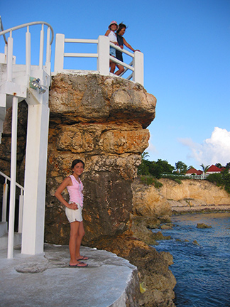 Stairs to fish Anguilla