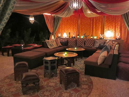 seating at meze lounge