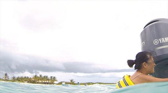 mom swimming in anguilla