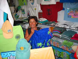 Anguilla tshirt and mom