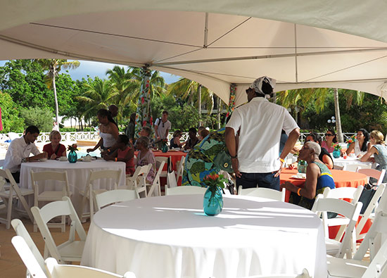 morning at lit fest anguilla