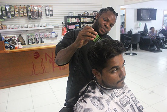 nails r hair barber in anguilla