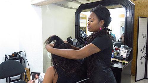 hair extension application