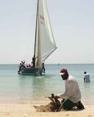 Anguilla, Anguilla boat racing, National sport, Real Deal, anchor, beach