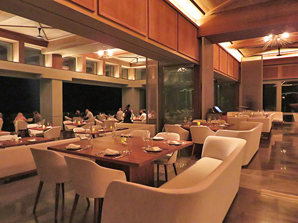 second level dining area at coba