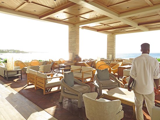 new furniture inside four seasons anguilla sunset lounge