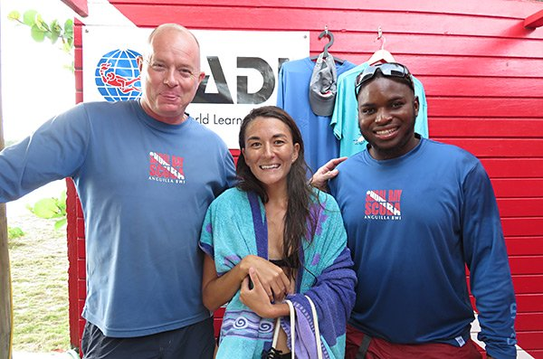 with matthew and najee of shoal bay scuba