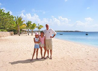 meads bay anguilla with dad in 2002