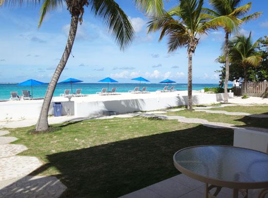ocean front view from shoal bay villas