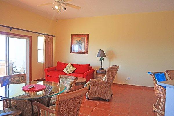 living area in ocean terrace condos