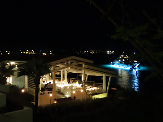 the restaurant at malliouhana by night