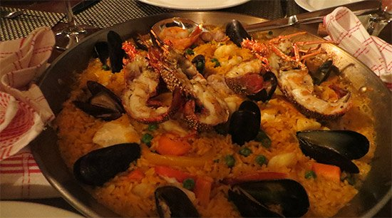 seafood paella at axa seafood house