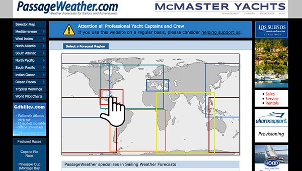 passage weather site