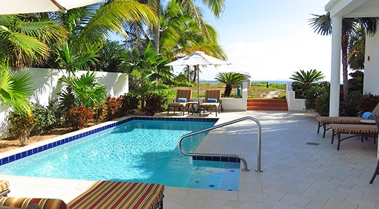 plunge pool and terrace at cuisinart