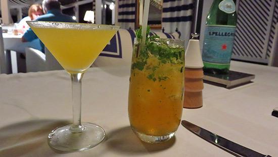 pre dinner rum cocktails at malliouhana restaurant