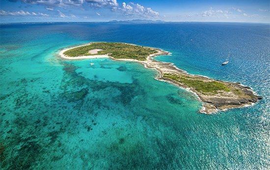 corail helicopter tour over prickly pear anguilla