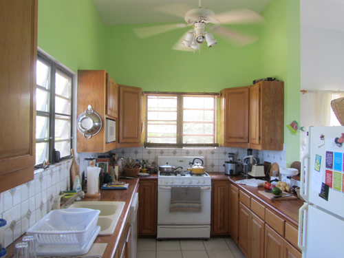 private rental home kitchen