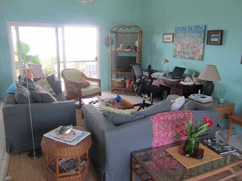 living area in an anguilla villa