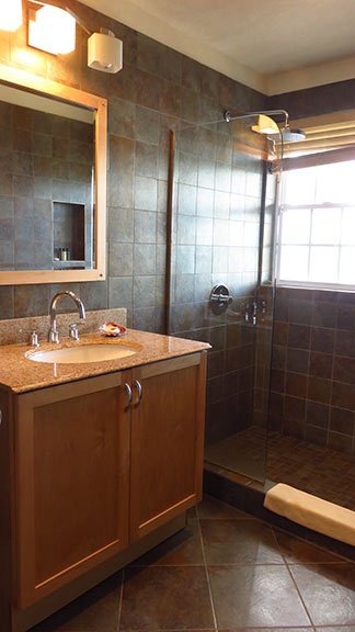 spotless bathrooms in renovated room