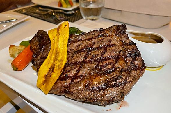 Prime ribeye at SALT Restaurant & Bar at The Morgan Resort & Spa