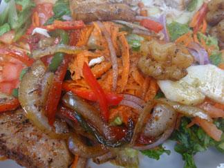 seafood salad at davida