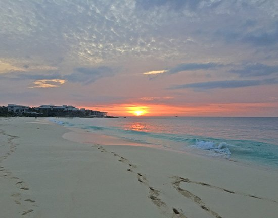 romantic wedding sunsets in anguilla