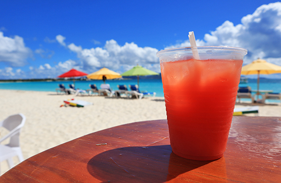 Rum Punch from Sunshine Shack beachbar N Grill