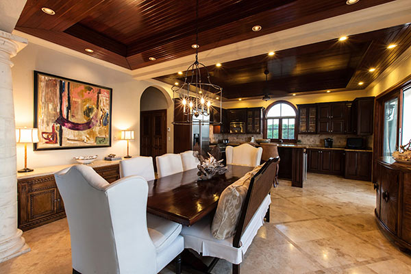 kitchen and dining inside sandcastle villa
