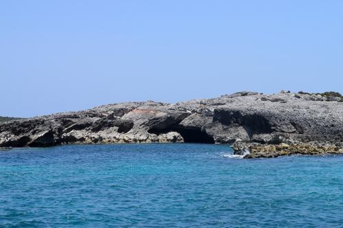 scrub island sea cave entrance