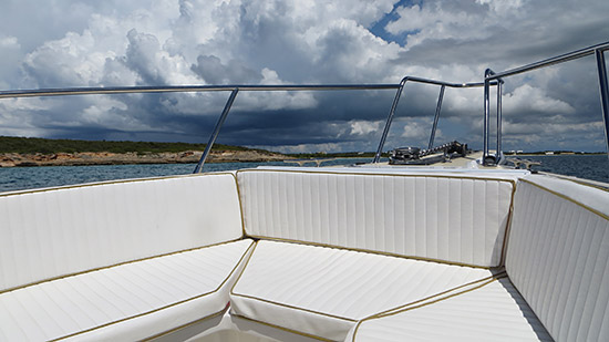 boat seating for pro charters