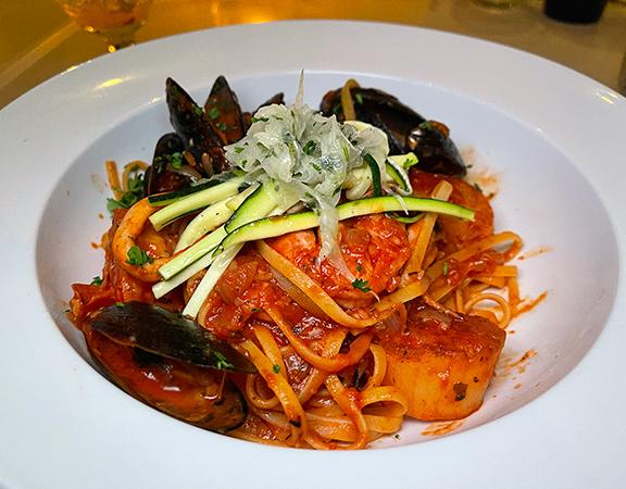 Seafood Pasta at SALT Restaurant & Bar at The Morgan Resort & Spa