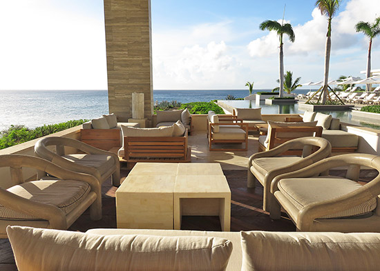 the new expanded seating at four seasons anguilla